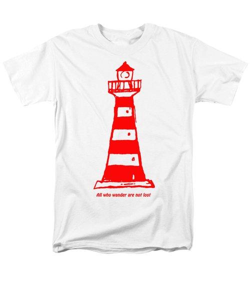 All Who Wander Men's T-Shirt  (Regular Fit) by Gillian Singleton