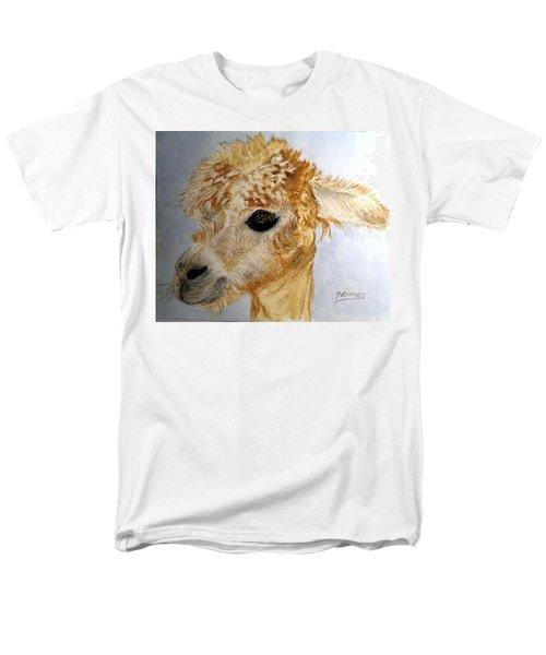 Alpaca Cutie Men's T-Shirt  (Regular Fit) by Carol Grimes