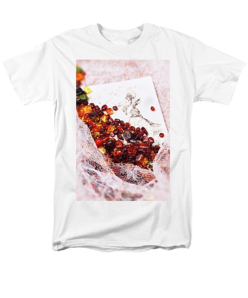 Men's T-Shirt  (Regular Fit) featuring the photograph Amber #8925 by Andrey  Godyaykin