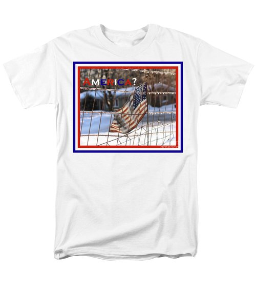 Men's T-Shirt  (Regular Fit) featuring the photograph America Where Are We by Smilin Eyes  Treasures