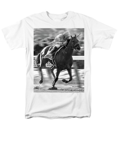 American Pharoah And Victor Espinoza Win The 2015 Belmont Stakes Men's T-Shirt  (Regular Fit) by Thomas Pollart