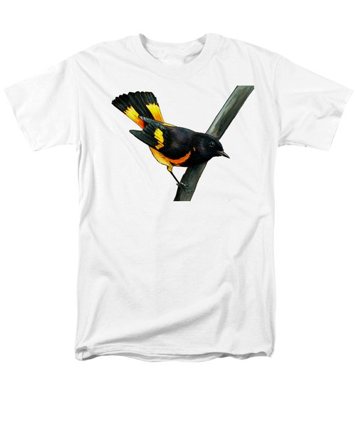 American Redstart Men's T-Shirt  (Regular Fit) by Rory Viale