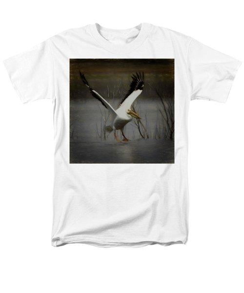 American White Pelican Da Square Men's T-Shirt  (Regular Fit) by Ernie Echols