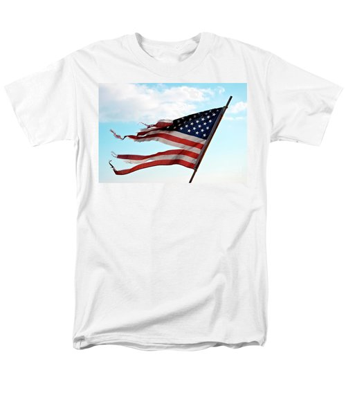 America's Liberty Prevails Men's T-Shirt  (Regular Fit) by Loriannah Hespe