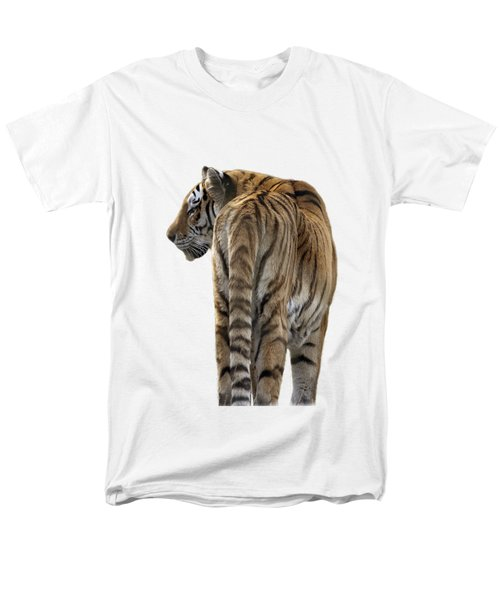 Amur Tiger On Transparent Background Men's T-Shirt  (Regular Fit) by Terri Waters