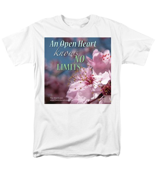An Open Heart Knows No Limits Men's T-Shirt  (Regular Fit) by Mark David Gerson