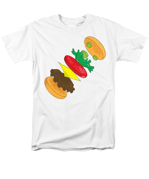 Anatomy Of Cheeseburger Men's T-Shirt  (Regular Fit) by Ben Shurts