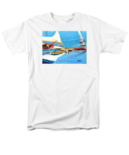 Men's T-Shirt  (Regular Fit) featuring the painting Anchored 2 by Marti Green