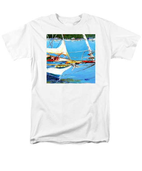 Men's T-Shirt  (Regular Fit) featuring the painting Anchored by Marti Green