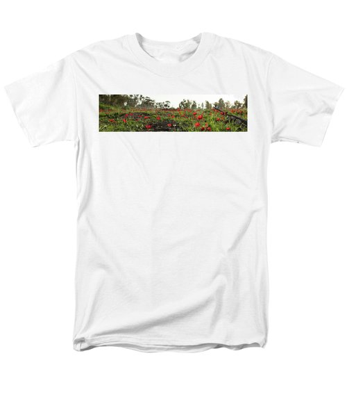 Men's T-Shirt  (Regular Fit) featuring the photograph Anemones Forest Panorama by Yoel Koskas