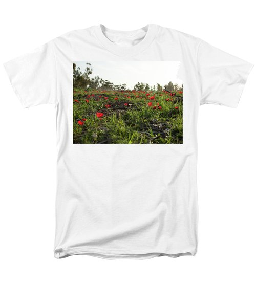 Men's T-Shirt  (Regular Fit) featuring the photograph Anemones Forest by Yoel Koskas