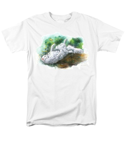 Men's T-Shirt  (Regular Fit) featuring the painting Angel In The Morning by Sherry Shipley