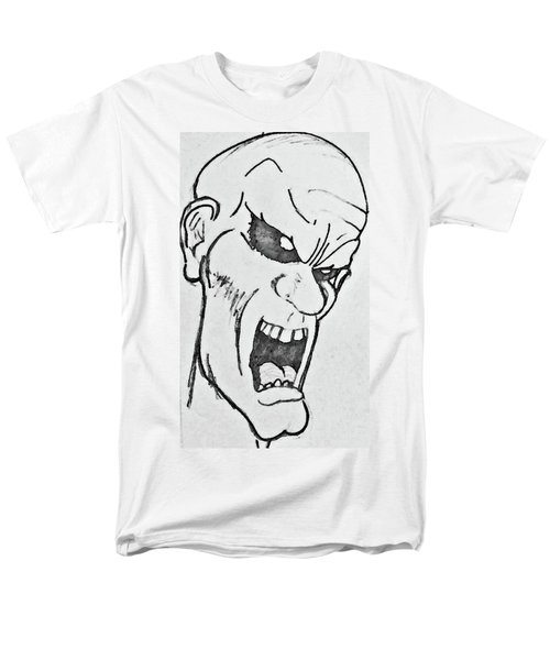 Men's T-Shirt  (Regular Fit) featuring the drawing Angry Cartoon Zombie by Yshua The Painter