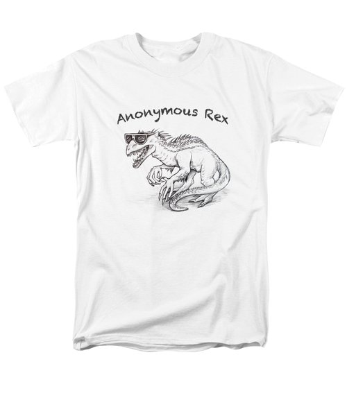 Men's T-Shirt  (Regular Fit) featuring the drawing Anonymous Rex T-shirt by Aaron Spong
