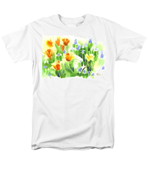 April Flowers 2 Men's T-Shirt  (Regular Fit) by Kip DeVore