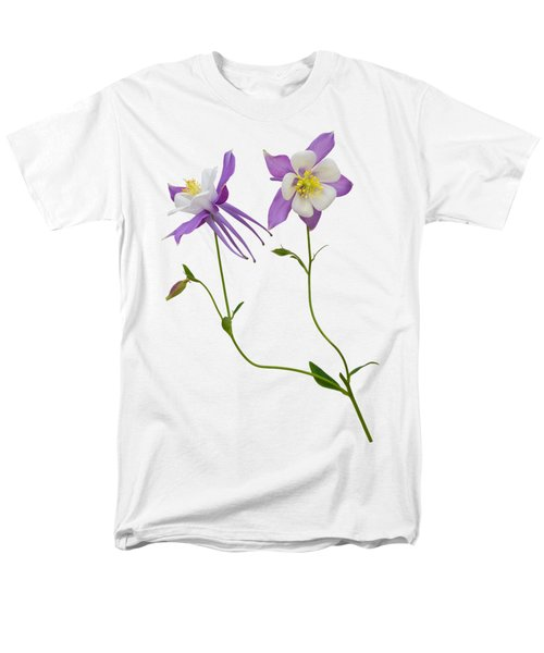 Men's T-Shirt  (Regular Fit) featuring the photograph Aquilegia Specimen by Jane McIlroy