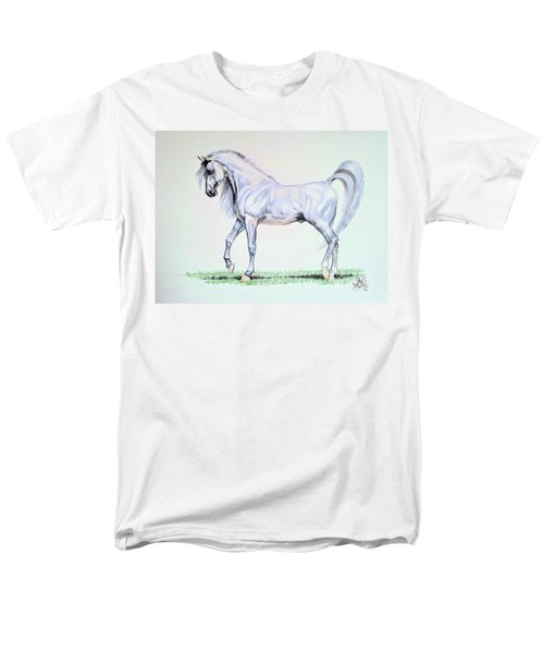 Arabian Stallion  Men's T-Shirt  (Regular Fit) by Cheryl Poland
