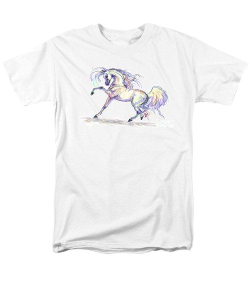 Arabian Stallion Talk Men's T-Shirt  (Regular Fit) by Stacey Mayer