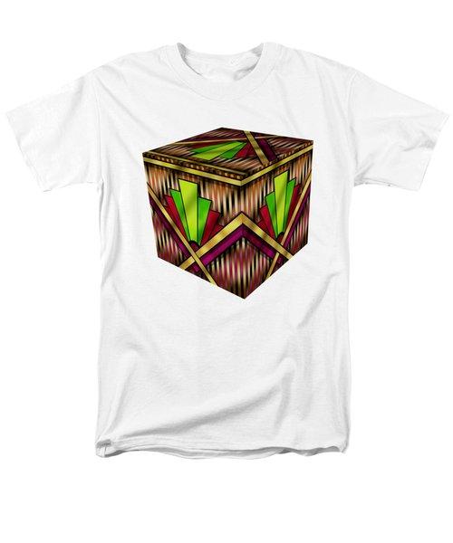 Art Deco 13 Cube Men's T-Shirt  (Regular Fit) by Chuck Staley