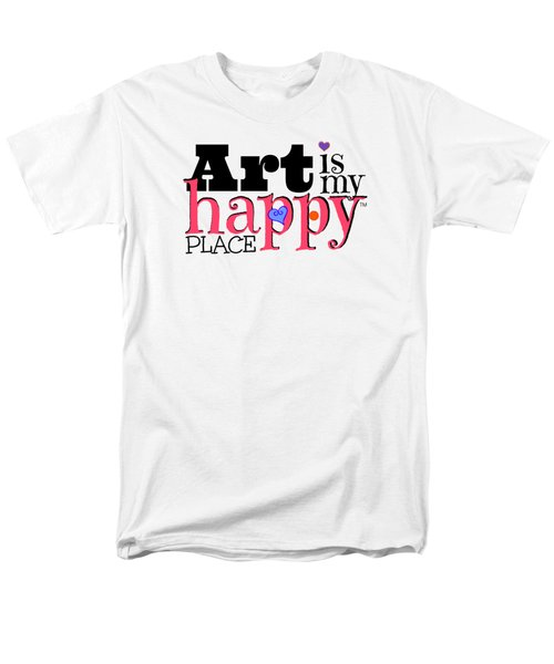 Art Is My Happy Place Men's T-Shirt  (Regular Fit) by Shelley Overton