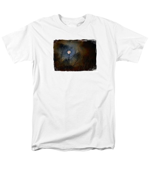Men's T-Shirt  (Regular Fit) featuring the photograph Artsy Moon by Lila Fisher-Wenzel