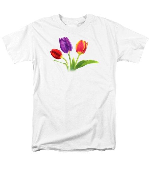 Tulip Trio Men's T-Shirt  (Regular Fit)