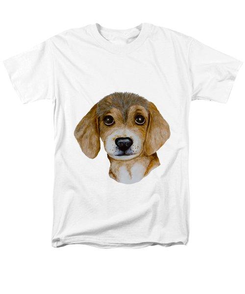Beagle Puppy Men's T-Shirt  (Regular Fit) by John Stuart Webbstock