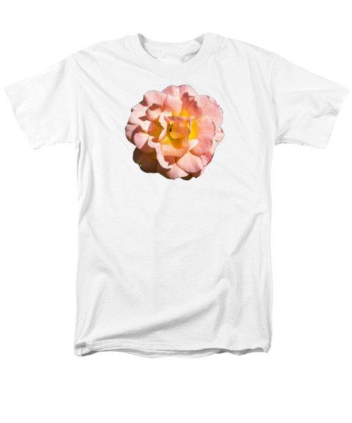 Peach Rose Men's T-Shirt  (Regular Fit) by Brian Manfra