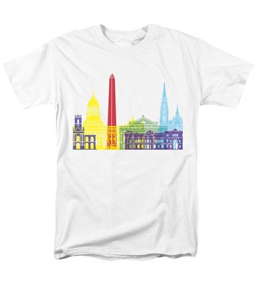 Buenos Aires Skyline Pop Men's T-Shirt  (Regular Fit) by Pablo Romero