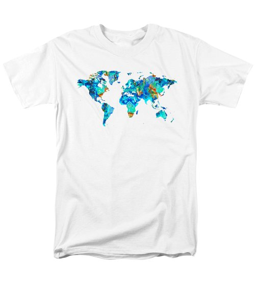 World Map 22 Art By Sharon Cummings Men's T-Shirt  (Regular Fit) by Sharon Cummings