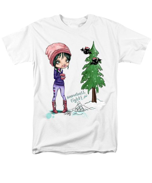 Snowball Fight Men's T-Shirt  (Regular Fit) by Lizzy Love