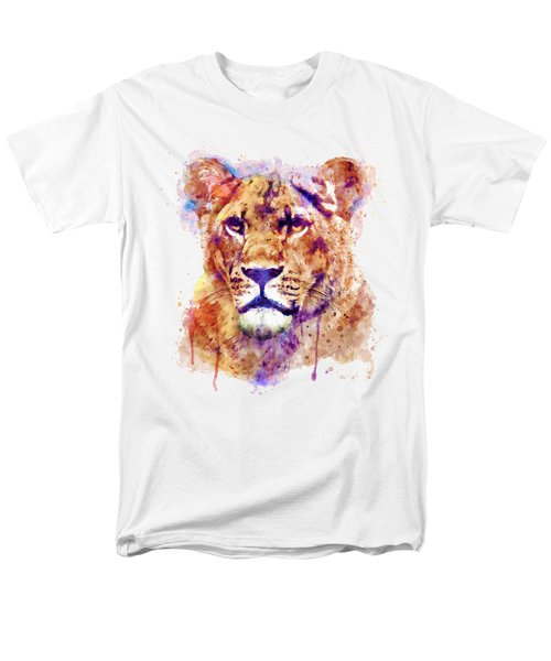 Lioness Head Men's T-Shirt  (Regular Fit) by Marian Voicu