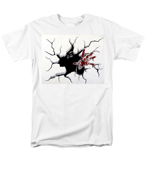 Men's T-Shirt  (Regular Fit) featuring the painting The Demon Inside by Teresa Wing