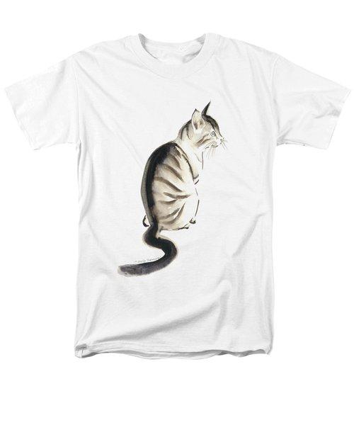 Cat Art 2 Men's T-Shirt  (Regular Fit) by Melly Terpening