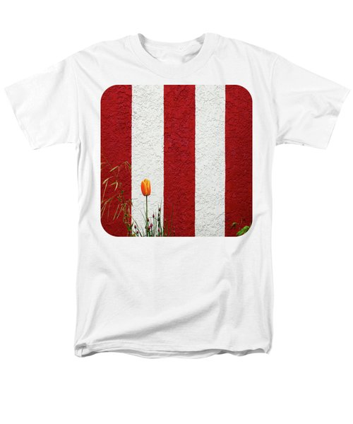 Men's T-Shirt  (Regular Fit) featuring the photograph Temple Wall by Ethna Gillespie