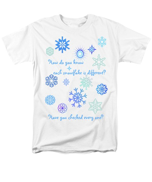 Snowflakes Men's T-Shirt  (Regular Fit) by Methune Hively