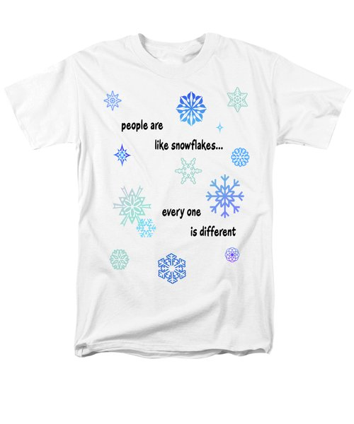 Snowflakes 3 Men's T-Shirt  (Regular Fit) by Methune Hively