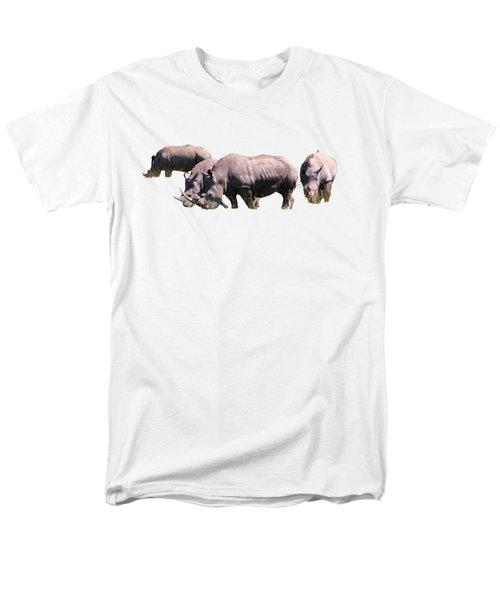 Group Of White Rhino Men's T-Shirt  (Regular Fit)