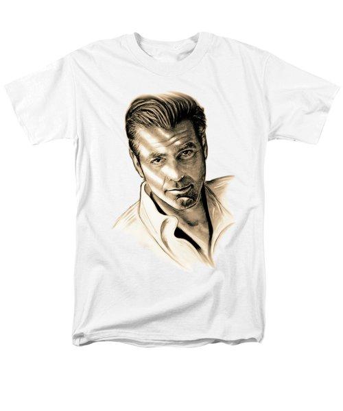 George Clooney Men's T-Shirt  (Regular Fit) by Gitta Glaeser