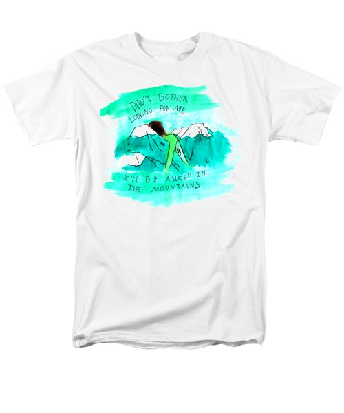 Asleep In The Mountains Men's T-Shirt  (Regular Fit) by Lucy Frost