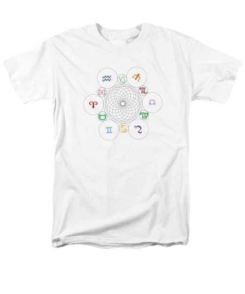 Astrological Sacred Geometry Image Men's T-Shirt  (Regular Fit) by Shelley Overton