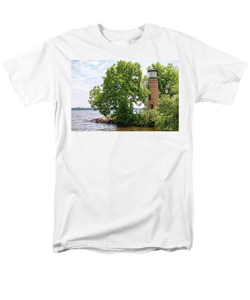 Asylum Point Lighthouse 1 Men's T-Shirt  (Regular Fit) by Trey Foerster