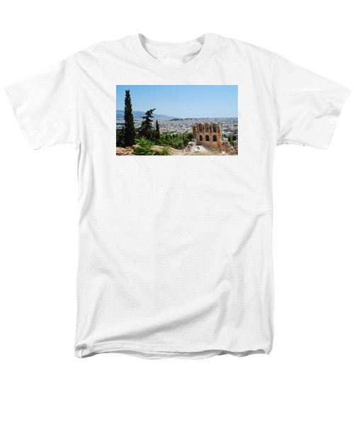 Men's T-Shirt  (Regular Fit) featuring the photograph Athens From Acropolis by Robert Moss