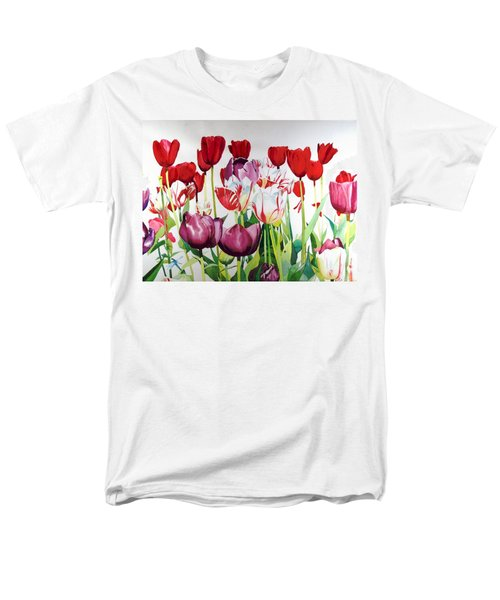 Men's T-Shirt  (Regular Fit) featuring the painting Attention by Elizabeth Carr