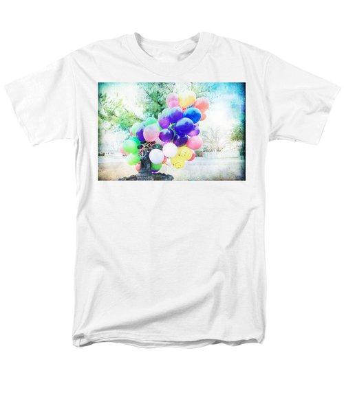 Smiley Face Balloons Men's T-Shirt  (Regular Fit) by Toni Hopper
