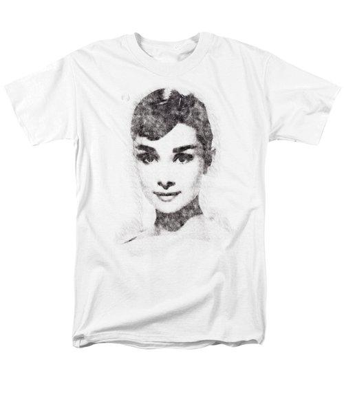 Audrey Hepburn Portrait 02 Men's T-Shirt  (Regular Fit) by Pablo Romero