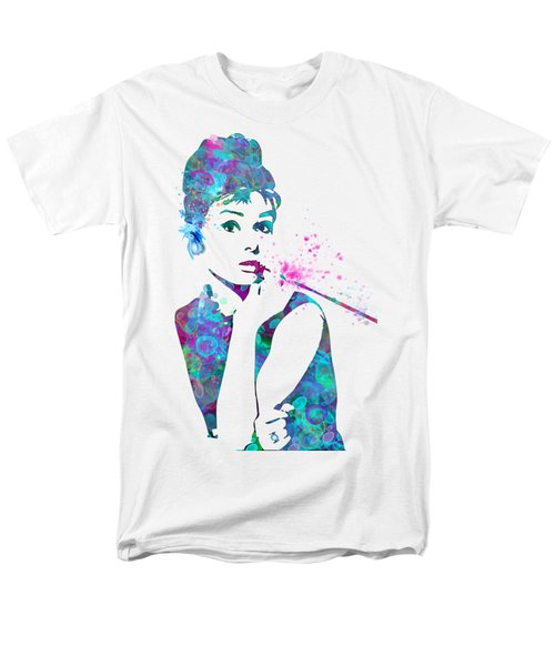 Audrey Hepburn Watercolor Pop Art  Men's T-Shirt  (Regular Fit)