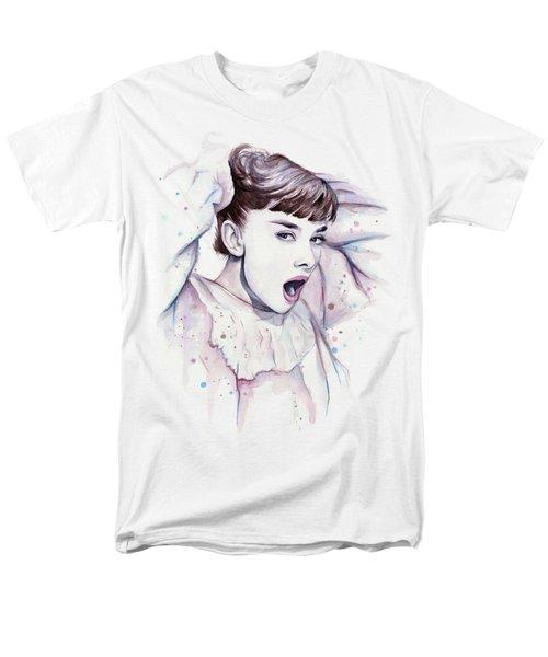 Audrey - Purple Scream Men's T-Shirt  (Regular Fit) by Olga Shvartsur