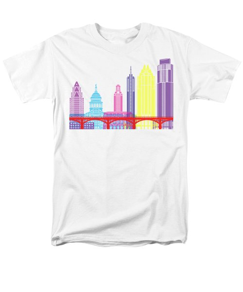 Austin Skyline Pop Men's T-Shirt  (Regular Fit) by Pablo Romero