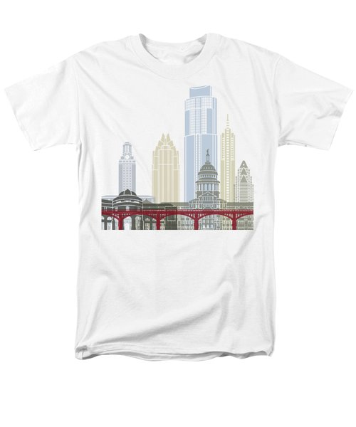 Austin Skyline Poster Men's T-Shirt  (Regular Fit) by Pablo Romero
